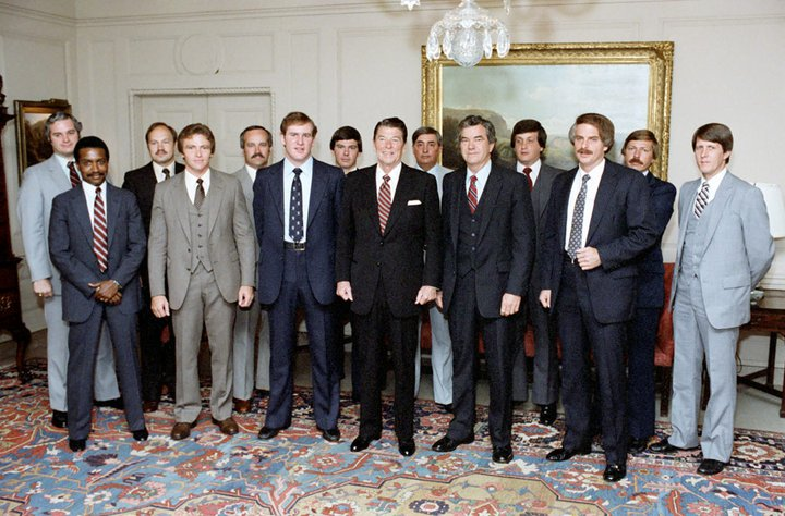 US Secret Service Presidential Protective Division with President Reagan, 1981