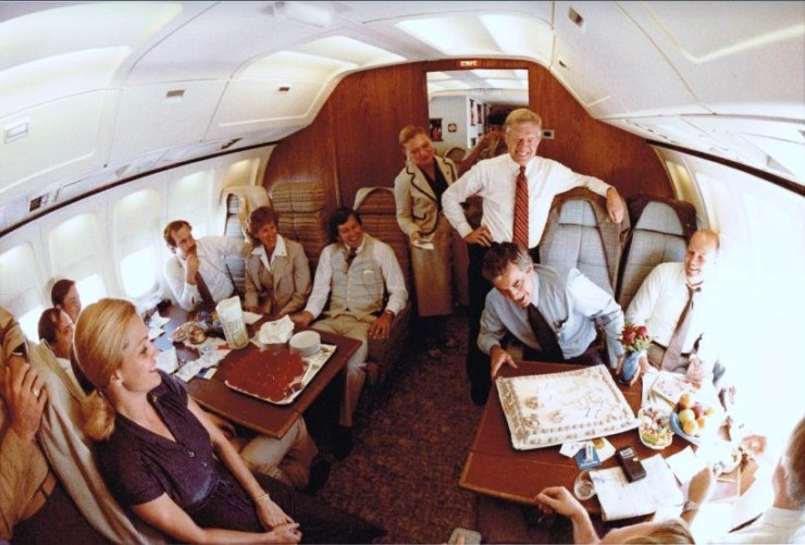 Surprise birthday party on Air Force One